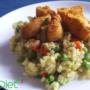 Zielone risotto z dorszem